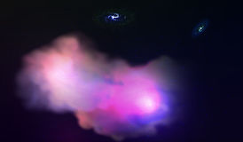 10 eps Взрыв в космосе Расширяя галактика также вектор иллюстрации притяжки corel Стоковые Изображения RF