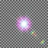 EPS10 Пирофакела объектива солнечного света вектора световой эффект прозрачного специального Стоковое фото RF