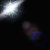 EPS10 Пирофакела объектива солнечного света вектора световой эффект прозрачного специального Стоковое Фото