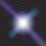 EPS10 Пирофакела объектива солнечного света вектора световой эффект прозрачного специального Стоковое Изображение