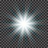 EPS10 Пирофакела объектива солнечного света вектора световой эффект прозрачного специального Стоковая Фотография