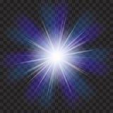 EPS10 Пирофакела объектива солнечного света вектора световой эффект прозрачного специального Стоковое Изображение RF