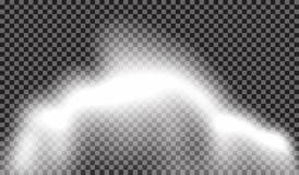 10 eps Специальный эффект тумана или дыма прозрачный Белая предпосылка пасмурности, тумана или смога также вектор иллюстрации при Стоковое Изображение