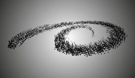 10 eps Спираль частиц на светлой предпосылке Стоковые Фото