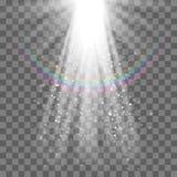 EPS10 Фара вектора Световой эффект Стоковые Фото