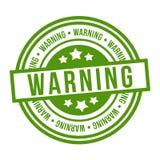 警告的邮票 Eps10传染媒介绿色徽章 库存例证