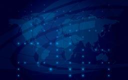 Eps 10 -抽象发光的蓝色背景 图库摄影