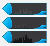 城市剪影的向量例证。 EPS 10。 库存图片