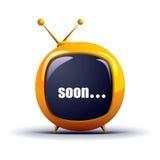 eps未来派电视向量 免版税图库摄影