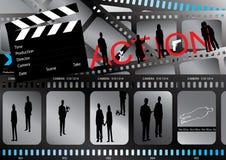eps αφίσα ταινιών Στοκ εικόνες με δικαίωμα ελεύθερης χρήσης