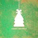 装饰的蓝色圣诞树。EPS 8 免版税库存照片