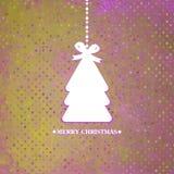 装饰的蓝色圣诞树。EPS 8 库存图片