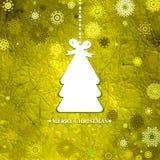 装饰的蓝色圣诞树。EPS 8 库存照片