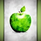 苹果计算机水彩 免版税库存照片