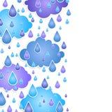 Предпосылка для текста с падениями дождя Стоковое Изображение RF