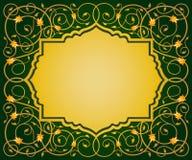伊斯兰教的花卉艺术边界 免版税图库摄影
