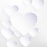 与纸心脏形状的情人节。EPS 10 库存图片