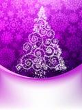 圣诞树,贺卡。EPS 10 免版税库存图片