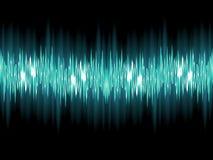 在深绿的明亮的声波。EPS 10 库存图片