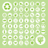 Экологичность и рециркулирует значки, вектор eps10 Стоковые Изображения