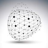 Объект eps8 пространственного вектора черно-белый цифровой Стоковое Фото