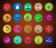 10个eps文件健身图标透明度 免版税库存照片