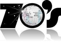 семидесятые годы eps диско шарика ретро Стоковая Фотография RF
