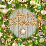 圣诞节花圈 10 eps 免版税库存图片