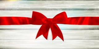 κόκκινη κορδέλλα τόξων 10 eps Στοκ Φωτογραφίες