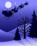 eps驯鹿圣诞老人雪橇 免版税库存照片