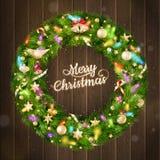 Στεφάνι Χριστουγέννων 10 eps Στοκ εικόνα με δικαίωμα ελεύθερης χρήσης