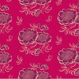 红色牡丹花卉剪影 可用的蓝色eps花格式绿色例证粉红色春天差异导航黄色 免版税库存图片