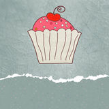 eps 8 καρτών cupcake αναδρομικός βαλεντίνος Στοκ φωτογραφία με δικαίωμα ελεύθερης χρήσης