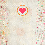 eps 8 καρτών placeholder βαλεντίνος Στοκ Φωτογραφίες