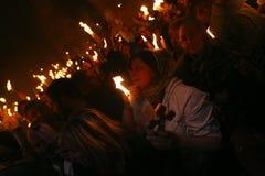 ιερό θαύμα πυρκαγιάς τελ&eps Στοκ Εικόνες