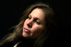ελκυστικό θηλυκό να φαν&eps Στοκ φωτογραφία με δικαίωμα ελεύθερης χρήσης