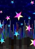 eps abstrakcjonistyczne rozochocone kolorowe gwiazdy Obrazy Stock