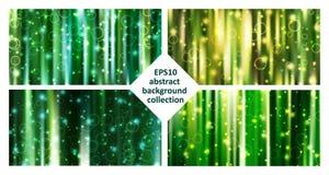 Eps10 abstrakta zieleni tła wektorowa kolekcja royalty ilustracja