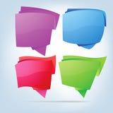 eps-anförande för 8 abstrakt bubblor Arkivfoton