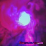 Eps 10 A aquarela da explosão nubla-se em uma luz - fundo azul Fotos de Stock