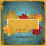 EPS10 Autumn leaves grunge background. Vector Stock Image