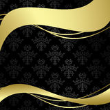 Eps - Black vintage background with gold decor Royalty Free Stock Photo