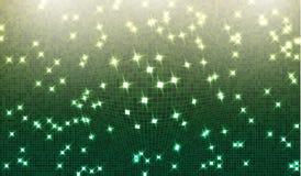 Eps 10 Borre o fundo verde do inclinação da perspectiva brilhante com quadrado de incandescência da iluminação Moldes gráficos da Fotografia de Stock