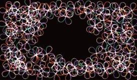 EPS10 Círculos obscuros de néon no movimento Efeito da fuga do redemoinho do vetor Os anéis luminosos abstratos retardam o efeito Imagens de Stock Royalty Free