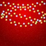 Eps 10 Christmas background with luminous garland.  Stock Images