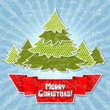 Eps 10 Christmas retro background in the style of Stock Photos