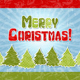 Eps 10 Christmas retro background in the style of Royalty Free Stock Photography