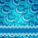 Eps 10 colorful vector background with sea waves Royalty Free Stock Photos