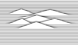 Comic background of horizontal wavy lines. Eps10. Comic background of horizontal wavy lines Stock Image