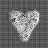 Eps 10 Composição abstrata das partículas sob a forma de um coração Dia do `s do Valentim Imagem de Stock